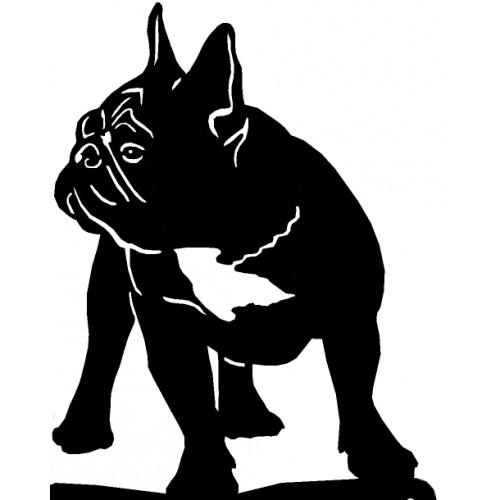 Stojak na miski dla psa lub kota - BULDOG FRANCUSKI