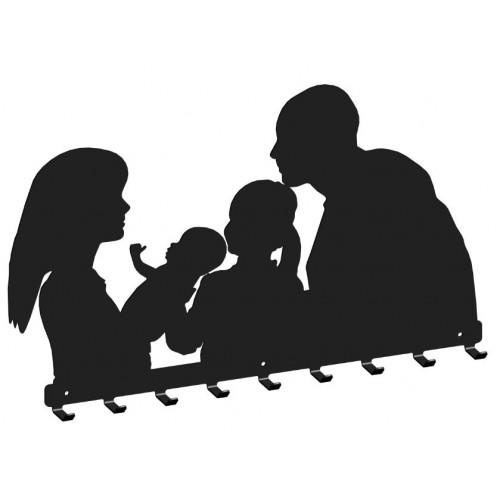 Rodzinka - wieszak na ubrania
