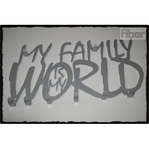 My Family is My WORLD - wieszak na ubrania