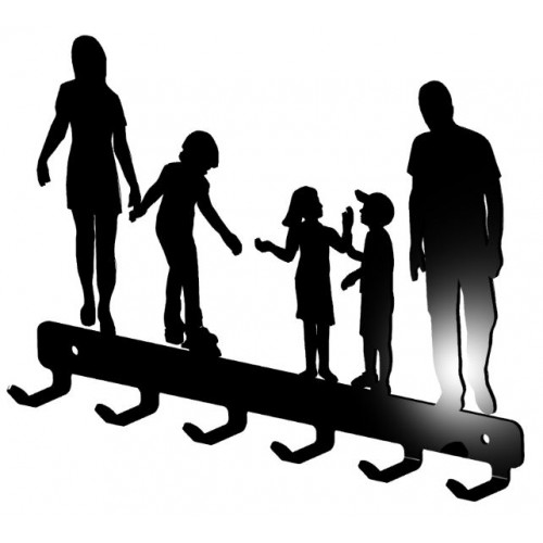 Wieszak na klucze Rodzinka