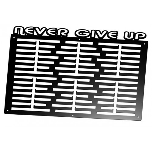 NEVER GIVE UP - wieszak na medale