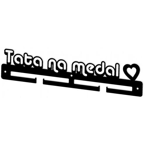 TATA NA MEDAL - wieszak na medale dla taty - sportowca