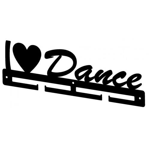 I LOVE DANCE - wieszak na medale dla początkujących
