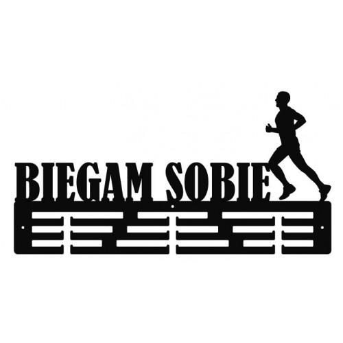 BIEGAM SOBIE- wieszak na medale