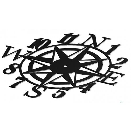 Zegar ścienny RÓŻA WIATRÓW - 50cm