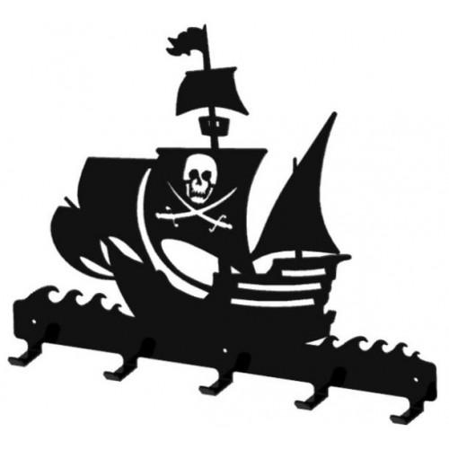 Statek piracki - wieszak na ubrania