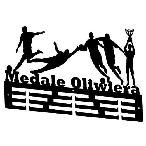 PIŁKA NOŻNA - wieszak na medale z imieniem
