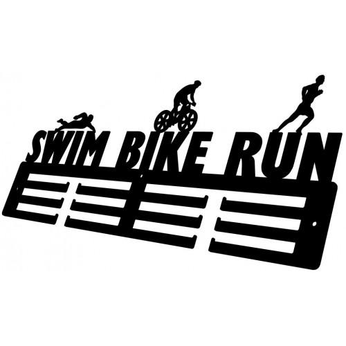 SWIM RUN BIKE - wieszak na medale