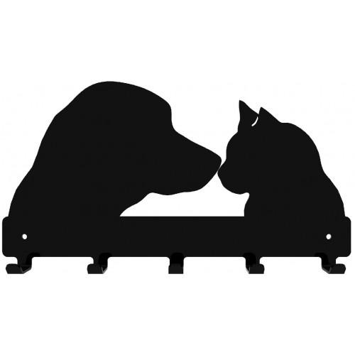 Pies i Kot - wieszak na ubrania