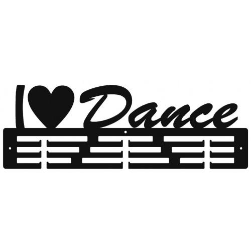 I LOVE DANCE - wieszak na medale