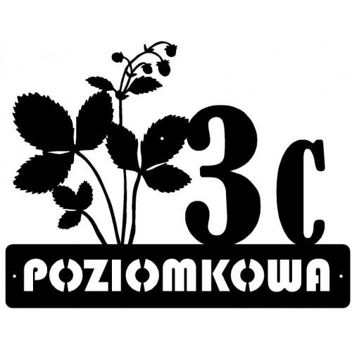 ULICA POZIOMKOWA - Numer na dom - 1