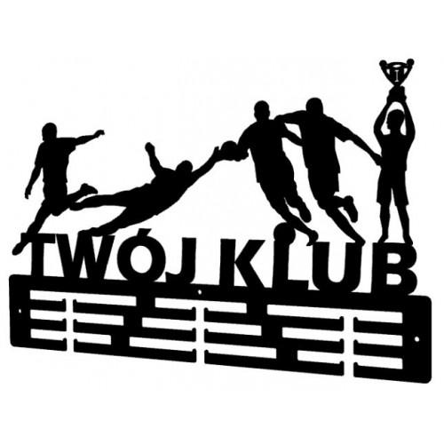 PIŁKA NOŻNA - wieszak na medale z nazwą Twojego Klubu
